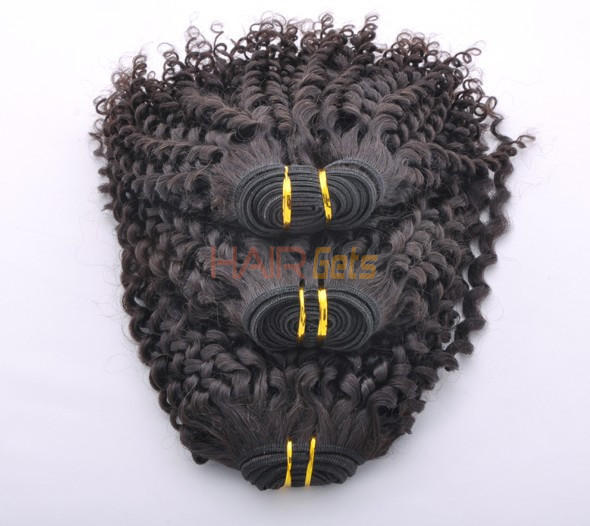 7A Malaysian Virgin Hair Weave Kinky Curl Natural Black 4