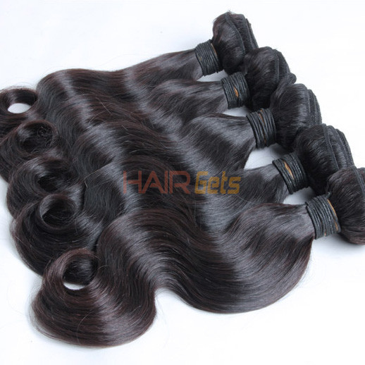 1 bundle 7A Malaysian Virgin Hair Weave Body Wave Natural Black 0