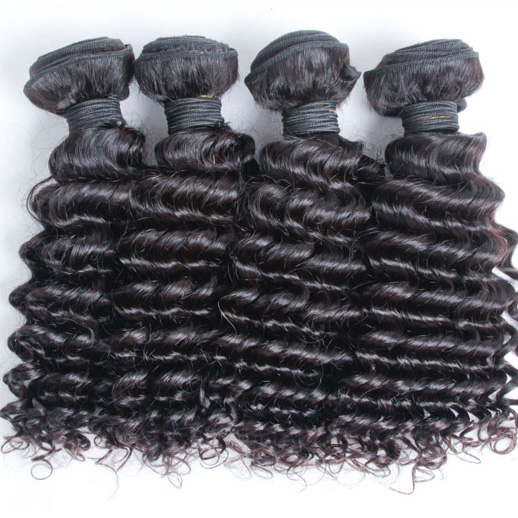 3 pcs 7A Virgin Malaysian Hair Weave Deep Wave Natural Black mhw011 0