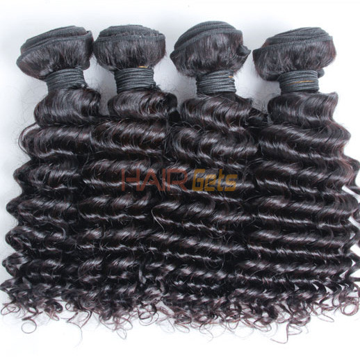 3 pcs 7A Virgin Malaysian Hair Weave Deep Wave Natural Black 0