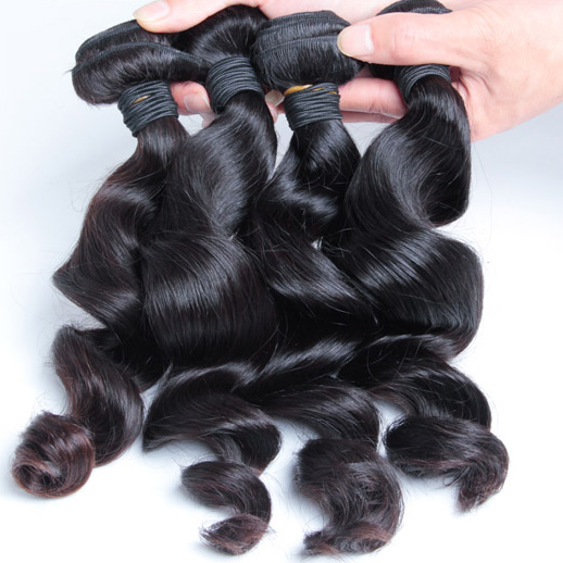 2 pcs 7A Loose Wave Malaysian Virgin Hair Weave Natural Black mhw014 0