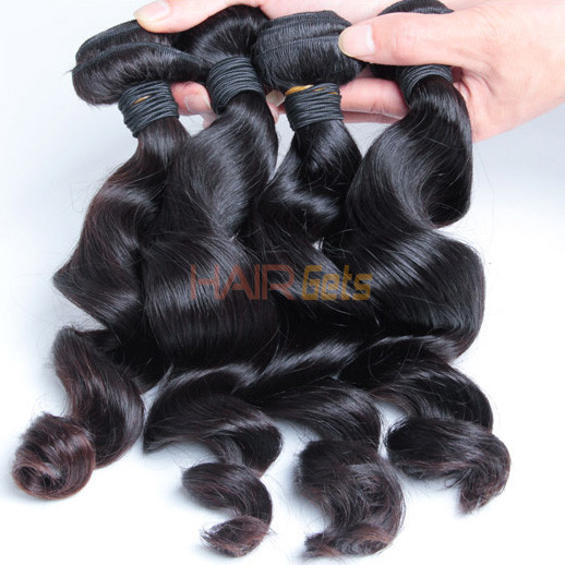 2 pcs 7A Loose Wave Malaysian Virgin Hair Weave Natural Black 0