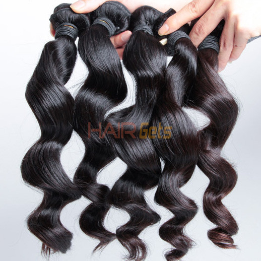 2 pcs 7A Loose Wave Malaysian Virgin Hair Weave Natural Black 1