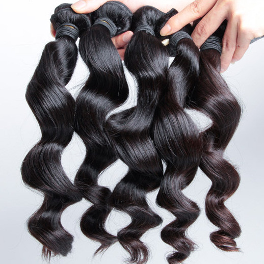 2 pcs 7A Loose Wave Malaysian Virgin Hair Weave Natural Black mhw014 1