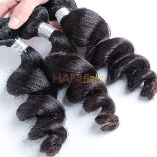 1 bundle 7A Loose Wave Peruvian Virgin Hair Weave Natural Black 1