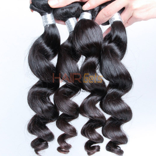 4 bundles 7A Virgin Peruvian Hair Loose Wave Natural Black With Price 1
