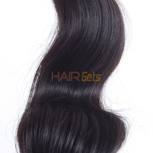1pcs 7A Virgin Peruvian Hair Extensions Body Wave Natural Black(#1B) 0