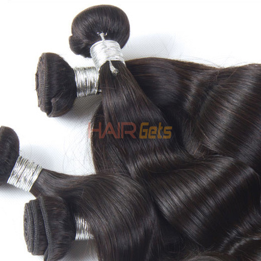 1pcs 7A Virgin Peruvian Hair Extensions Body Wave Natural Black(#1B) 1