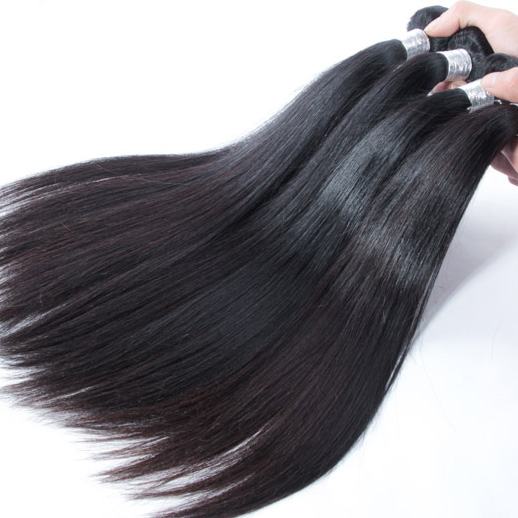 2 bundles 7A Virgin Peruvian Hair Silky Straight Weave Natural Black phw002 0