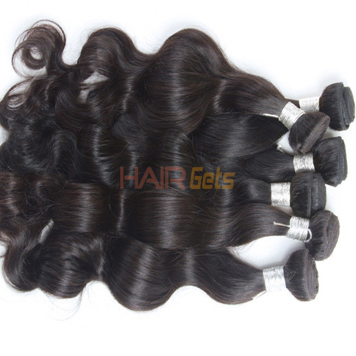 3 pcs 7A Peruvian Virgin Hair Weave Natural Black Body Wave 0