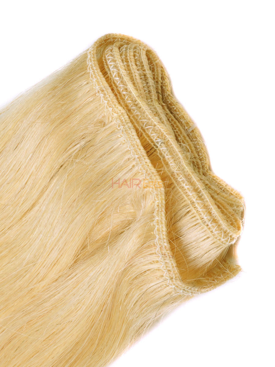 Silky Straight Virgin Indian Remy Hair Extensions Medium Blonde(#24) 1