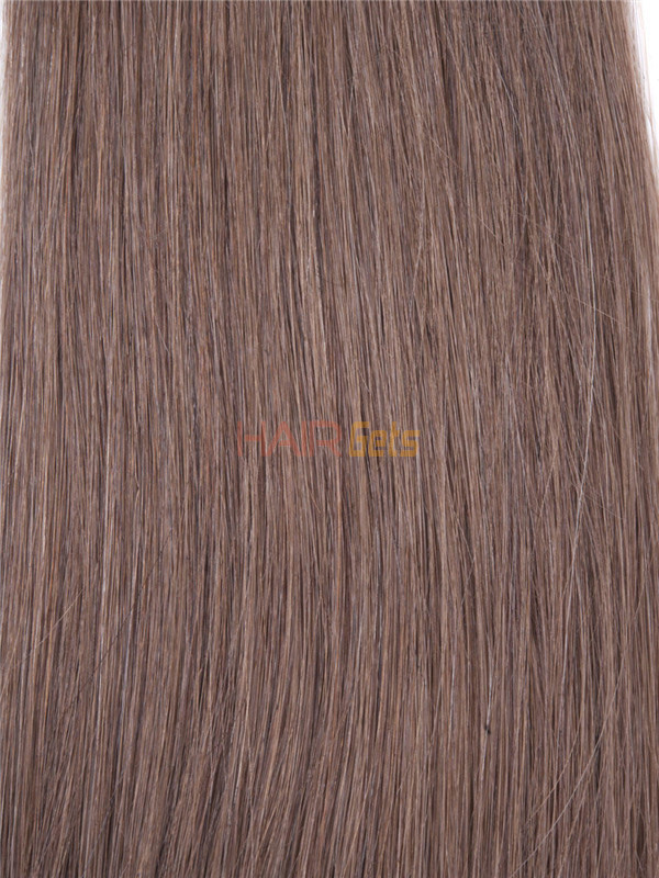 Silky Straight Virgin Indian Remy Hair Extensions Light Chestnut(#8) 1