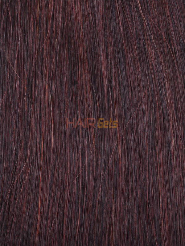 Silky Straight Virgin Indian Remy Hair Extensions Medium Brown(#4) 2