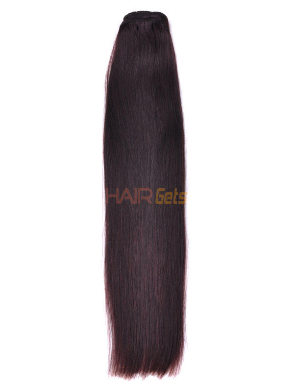 Silky Straight Virgin Indian Remy Hair Extensions Dark Brown(#2) 0