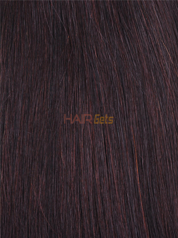 Silky Straight Virgin Indian Remy Hair Extensions Dark Brown(#2) 1