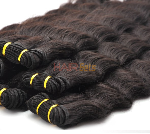 7A Virgin Thailand Hair Weave Deep Wave Natural Black 0