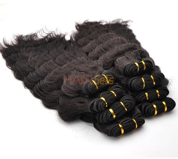 7A Virgin Thailand Hair Weave Deep Wave Natural Black 1