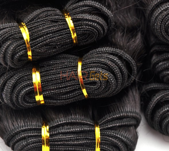 7A Virgin Thailand Hair Weave Deep Wave Natural Black 2