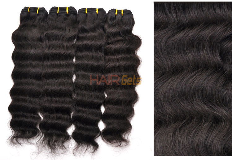 7A Virgin Thailand Hair Weave Deep Wave Natural Black 3