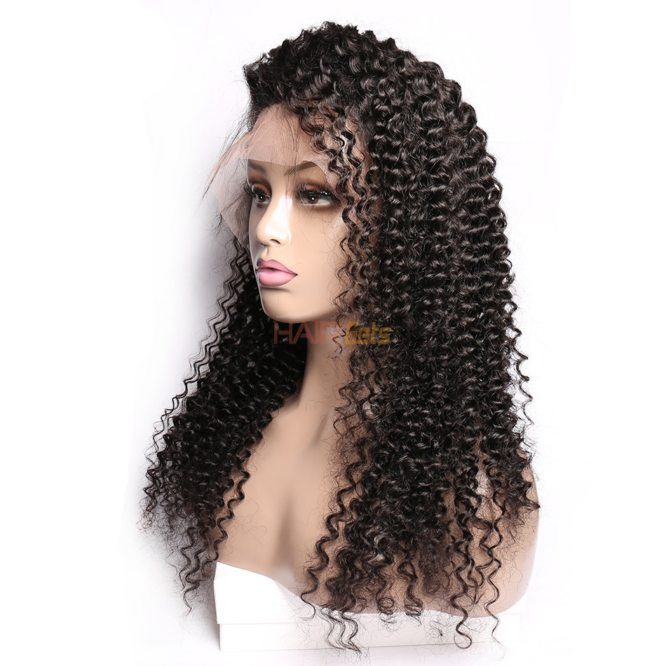 Loose Curly 360 Lace Frontal Wigs, Human Hair Wigs With Discount 12-28 Inch 0