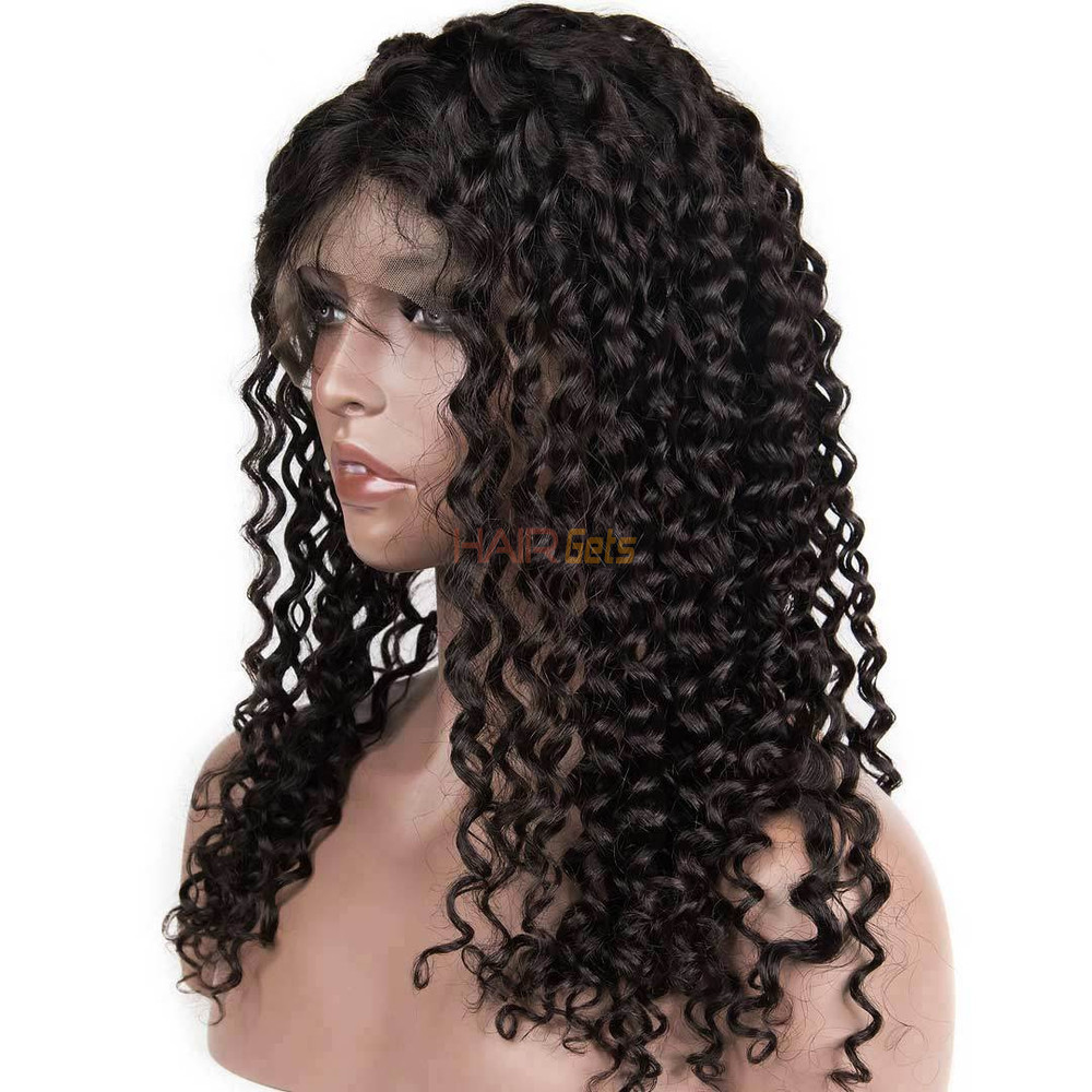 360 Lace Frontal Human Hair Water Wave Wigs, 10-30 Inch  Smooth & Shiny 0