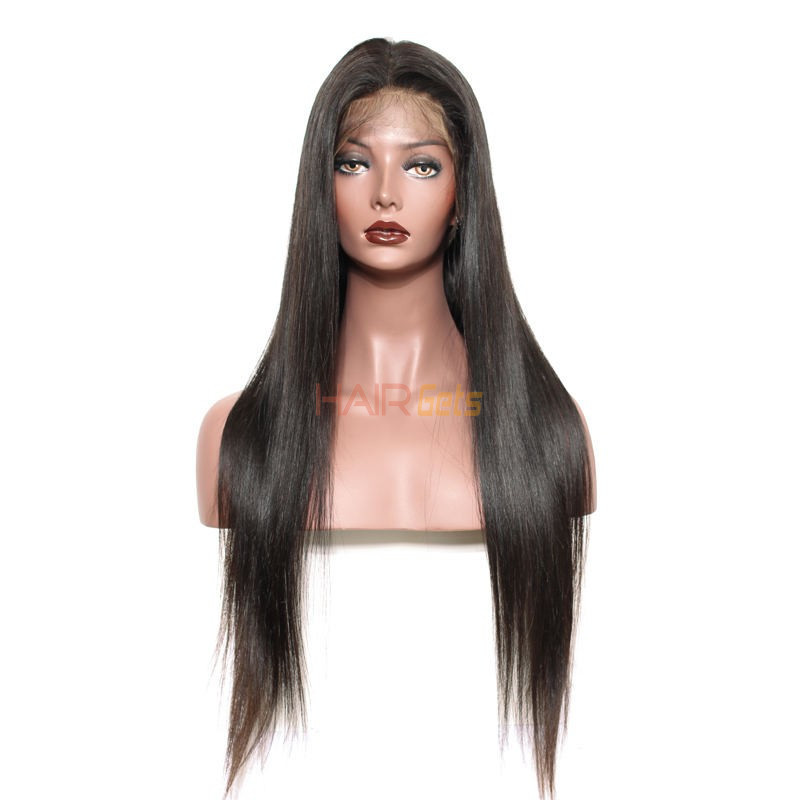 Silky Straight Full Lace Wig, 100% Human Virgin Hair Wigs 8-28 inch 0