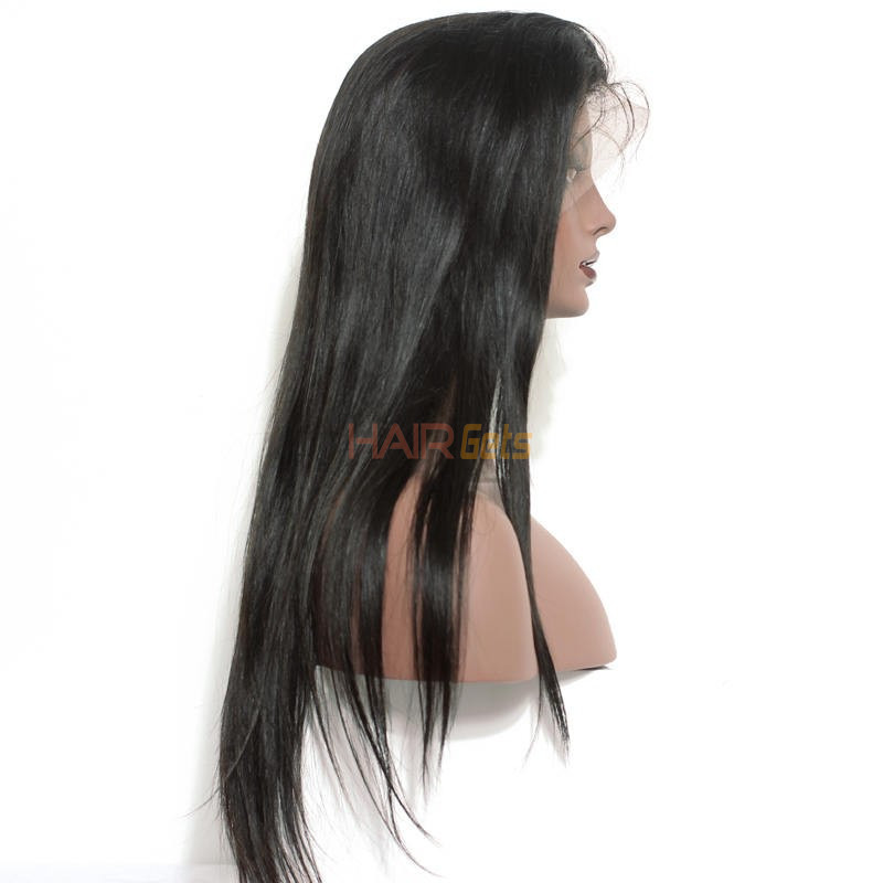 Silky Straight Full Lace Wig, 100% Human Virgin Hair Wigs 8-28 inch 1