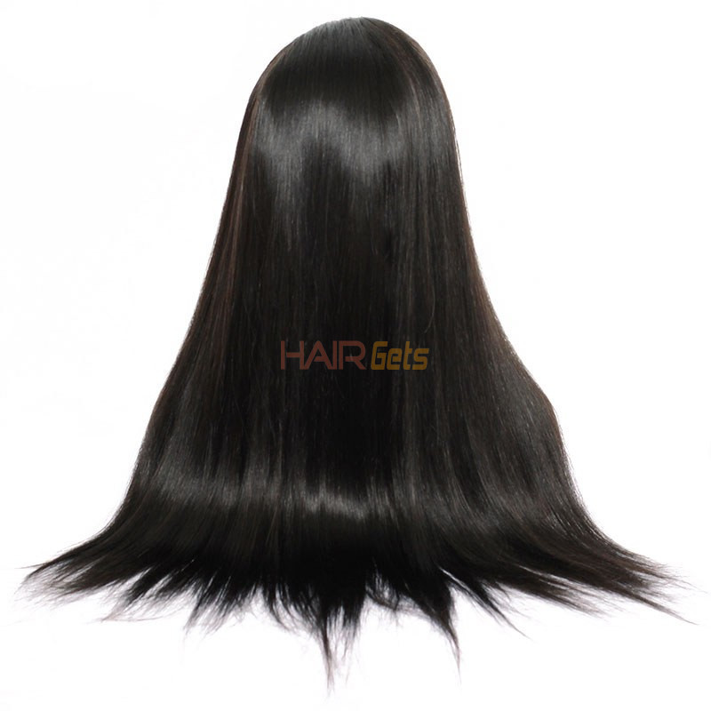 Silky Straight Full Lace Wig, 100% Human Virgin Hair Wigs 8-28 inch 4