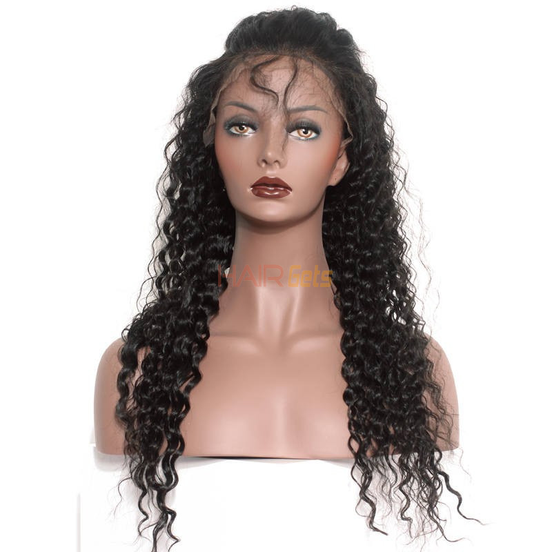 Soft like Silk Deep Wave Full Lace Human Hair Wig, 10-28 inch Lace Wigs 0