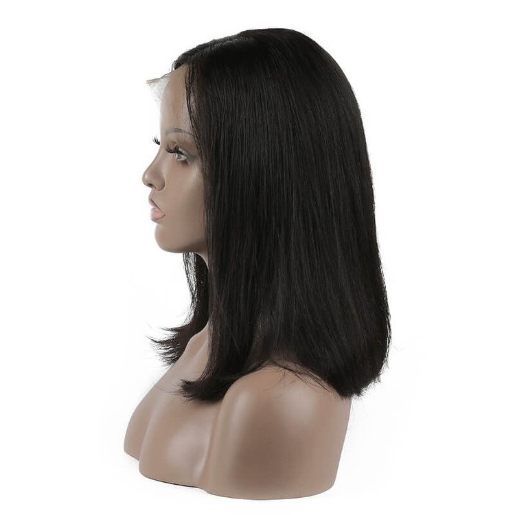Full Lace Straight Bob Wigs 10 inch-30inch, Real Virgin Hair Wig flw009 1