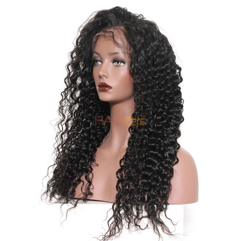 Loose Curly Full Lace Wigs, Human Hair Wigs With Discount 12-30 Inch 0