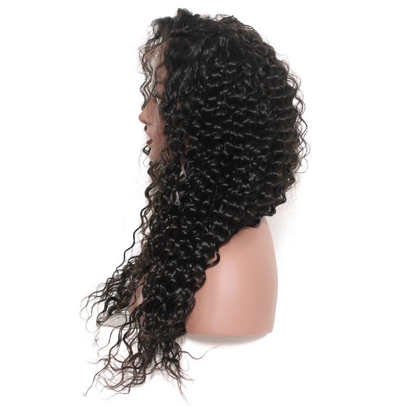 Loose Curly Full Lace Wigs, Human Hair Wigs With Discount 12-30 Inch flw010 1