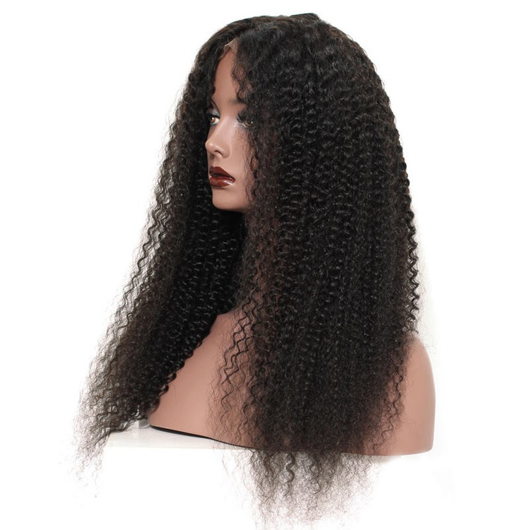 Kinky Curly Full Lace Wig, 100% Virgin Hair Curly Wigs For Women flw012 0