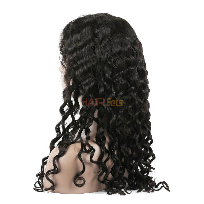 Full Lace Human Hair Water Wave Wigs, 10-30 Inch Smooth & Shiny 1