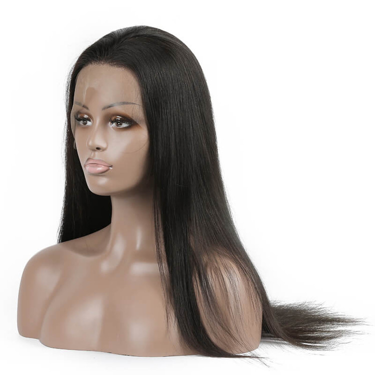 Long Straight Lace Front Wigs, 100% Human Hair Wig 10-30 inch lfw001 0