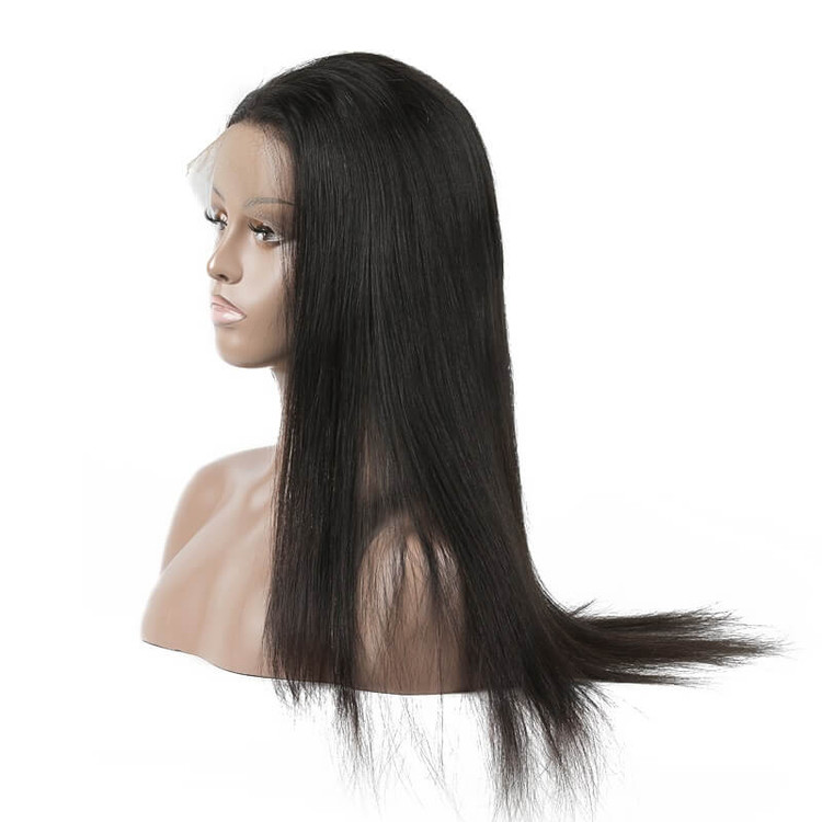 Long Straight Lace Front Wigs, 100% Human Hair Wig 10-30 inch lfw001 1