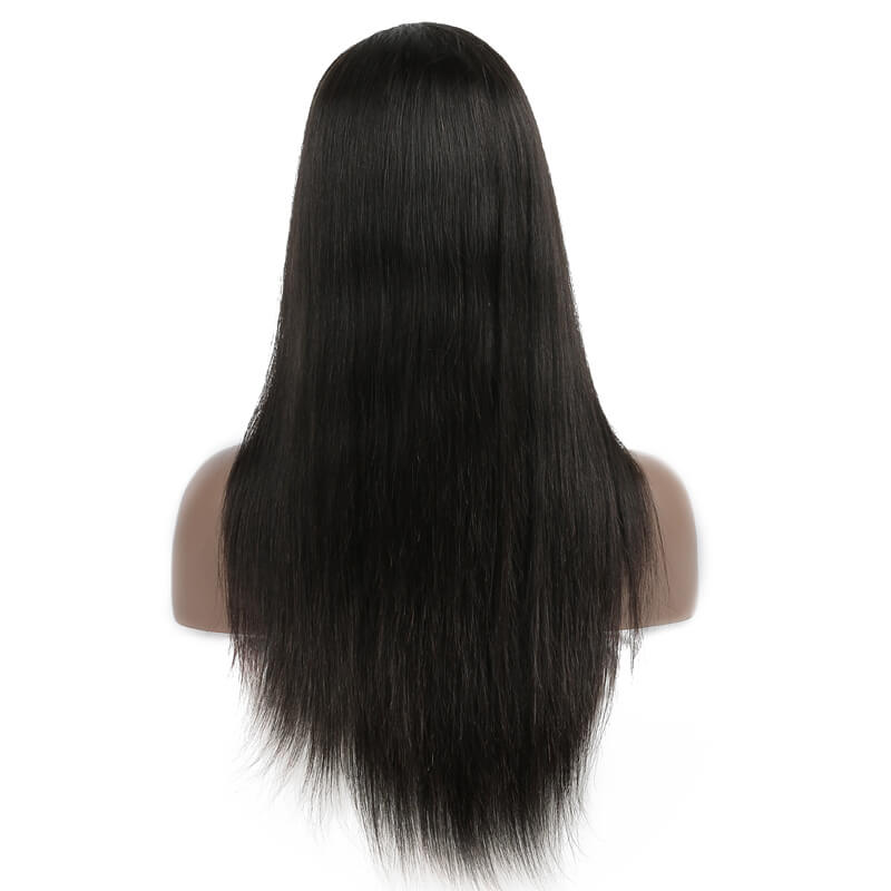 Long Straight Lace Front Wigs, 100% Human Hair Wig 10-30 inch lfw001 2