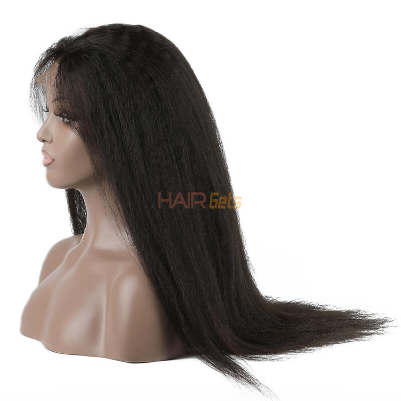 Shiny Kinky Straight Lace Front Wig, Amazing Virgin Hair Wigs 10-26 inch 1