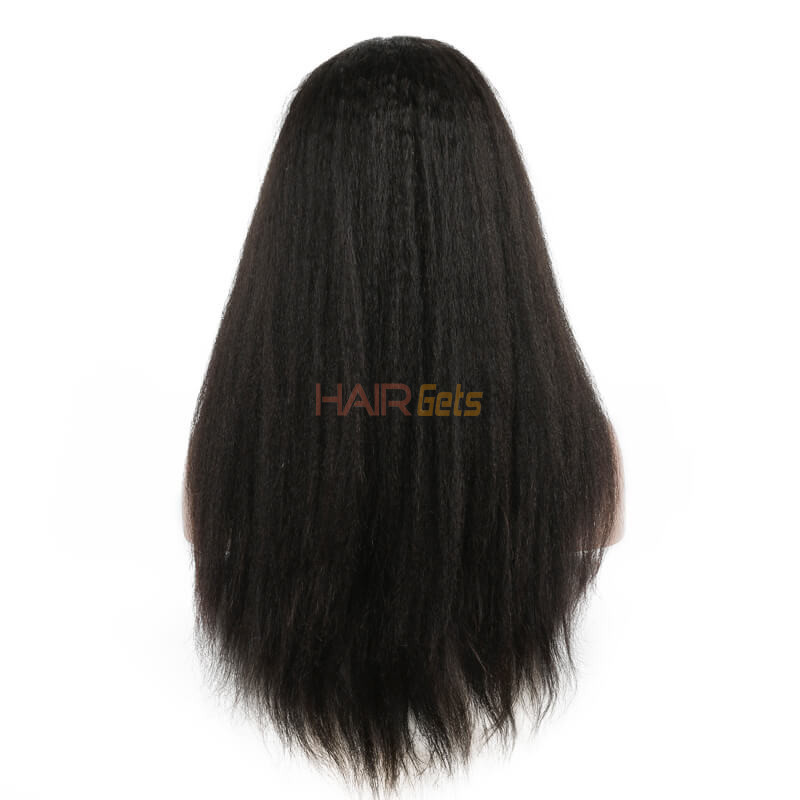 Shiny Kinky Straight Lace Front Wig, Amazing Virgin Hair Wigs 10-26 inch 2