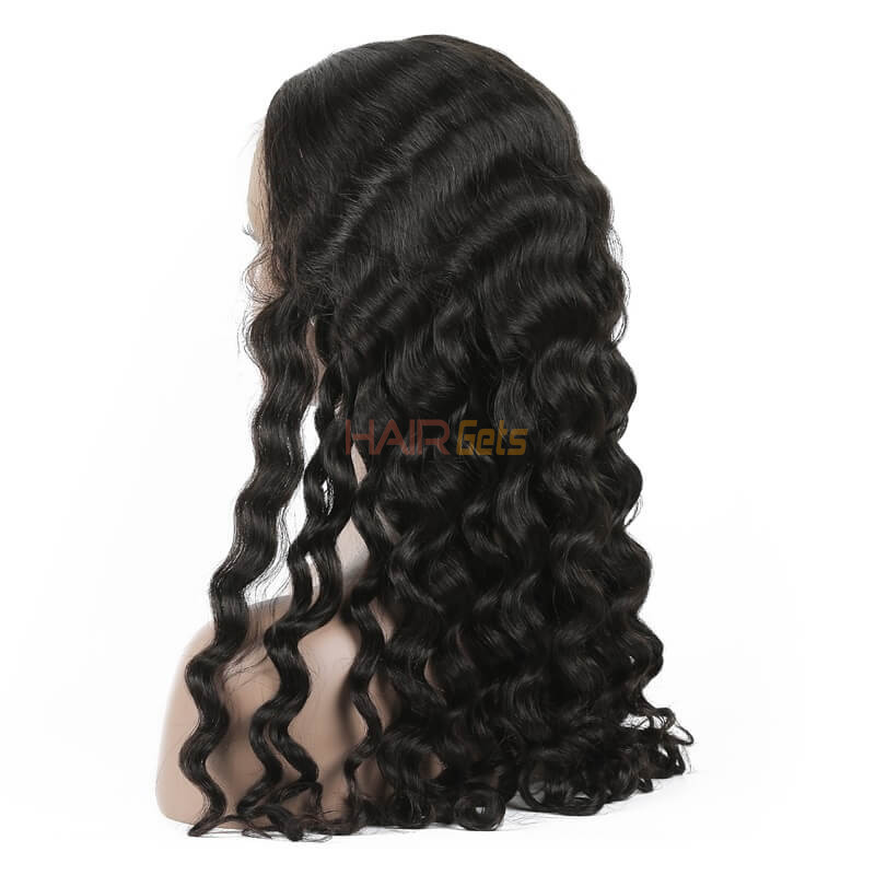 Loose Curly Lace Front Wigs, Human Hair Wigs With Discount 12-30 Inch 1