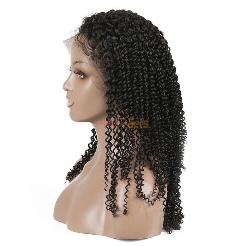Kinky Curly Lace Front Wig, 100% Virgin Hair Curly Wigs 8A For Women 0