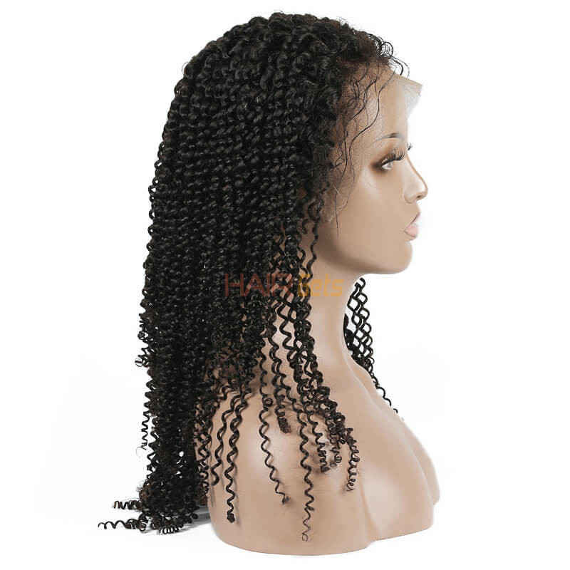 Kinky Curly Lace Front Wig, 100% Virgin Hair Curly Wigs 8A For Women 1