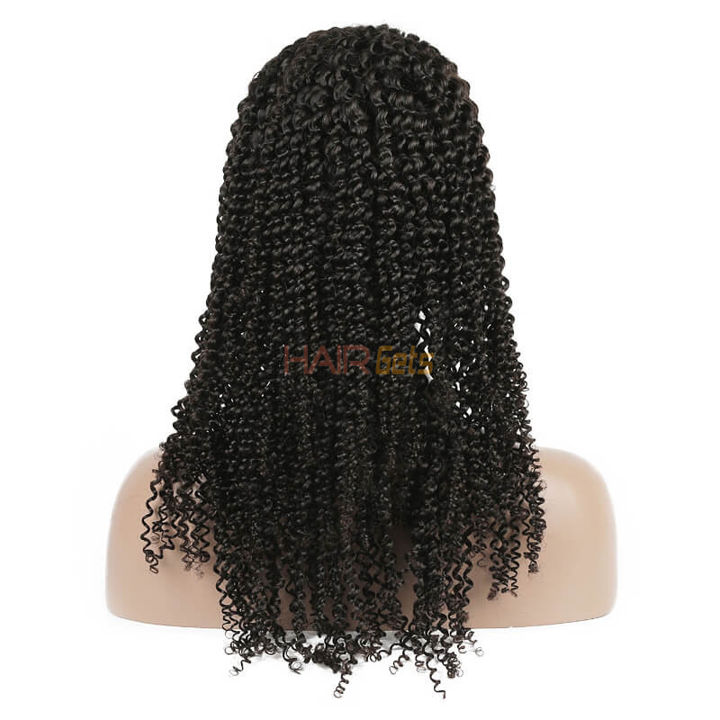 Kinky Curly Lace Front Wig, 100% Virgin Hair Curly Wigs 8A For Women 2