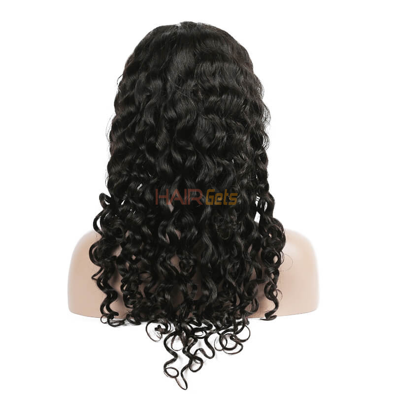 Lace Front Human Hair Water Wave Wigs, 10-30 Inch  Smooth & Shiny 2