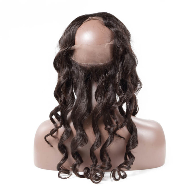 Loose Wave 360 Lace Frontal Made by Real Virgin Hair On Sale 8A