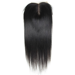 Hot sale Virgin Straight Hair 4x4 Lace Closure Back lc001
