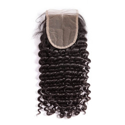 Soft Like Silk Brazilian Hair Closure, Deep Wave Lace Closure 4x4 Inches lc004