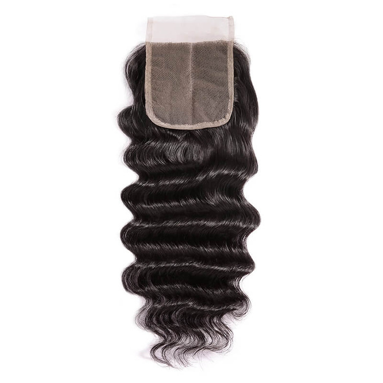 Smooth Virgin Hair Lace Closure,4*4 Loose Curly Closure For Women