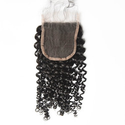 Human Hair 4*4 Curly Lace Closure, Smooth & Shiny 10-28 Inches