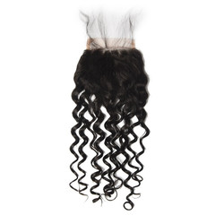Cheapest Virgin Hair Water Wave Lace Closure, Natural Back